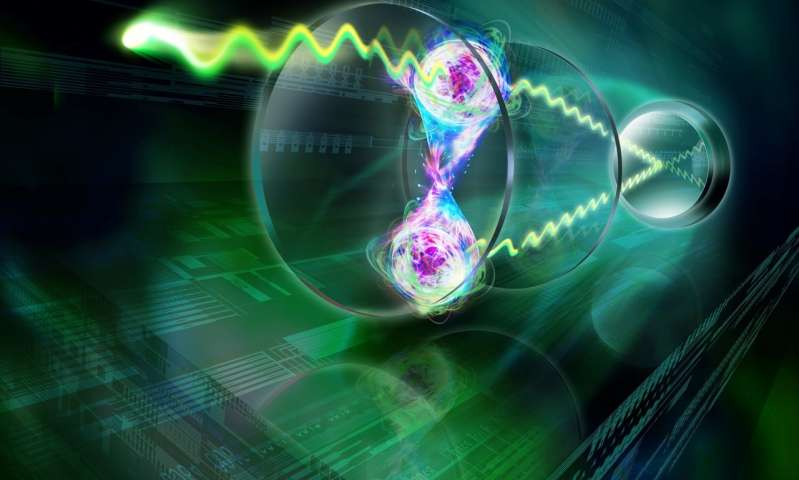 Entangled atoms shine in unison